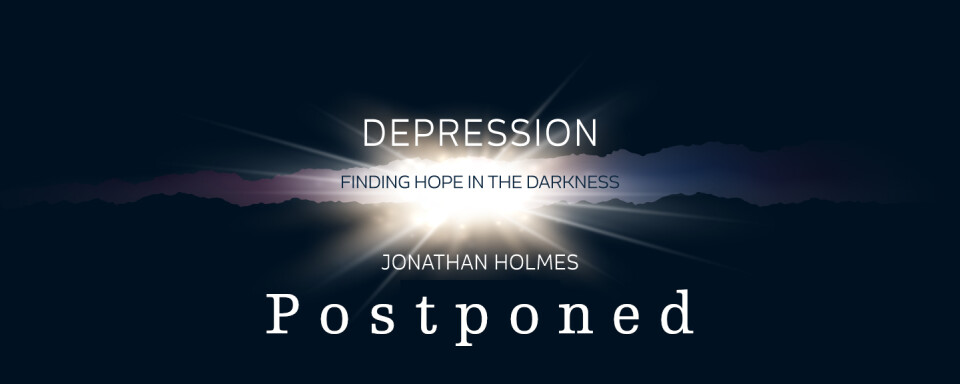 Finding Hope in the Darkness Seminar with Jonathan Holmes